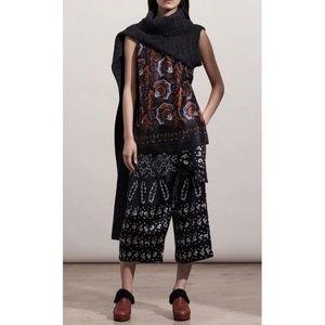 Thakoon Black & White Printed Wrap Culottes nwt